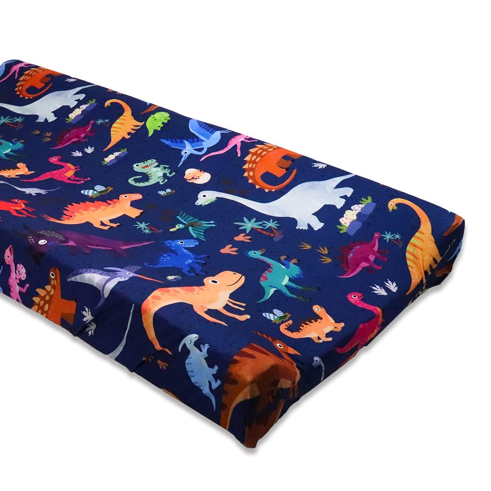 Baby Changing Pad Cover, Ultra Soft Change Table Cover, Dinosaur Printed Cradle Sheet for Boys and Girls