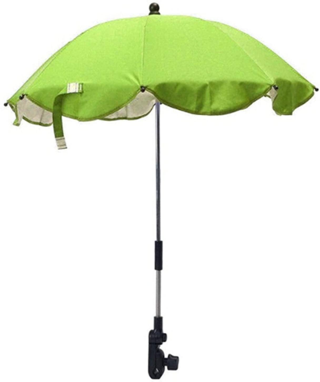 KMSUNME Baby Wheelchair Pushchair Stroller Umbrella UV Protection Sun Umbrella Parasol Buggy Pushchair Pram Stroller Shade Canopy