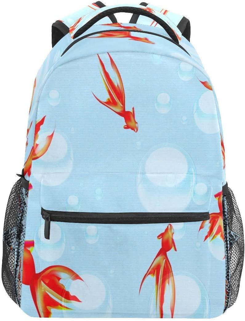 Red Koi Fish Swim Water Business Laptop Backpack Travel Hiking Camping Daypack College Bookbag Large Diaper Bag Doctor Bag School Backpack Water Resistant Anti-Theft for Women&Men