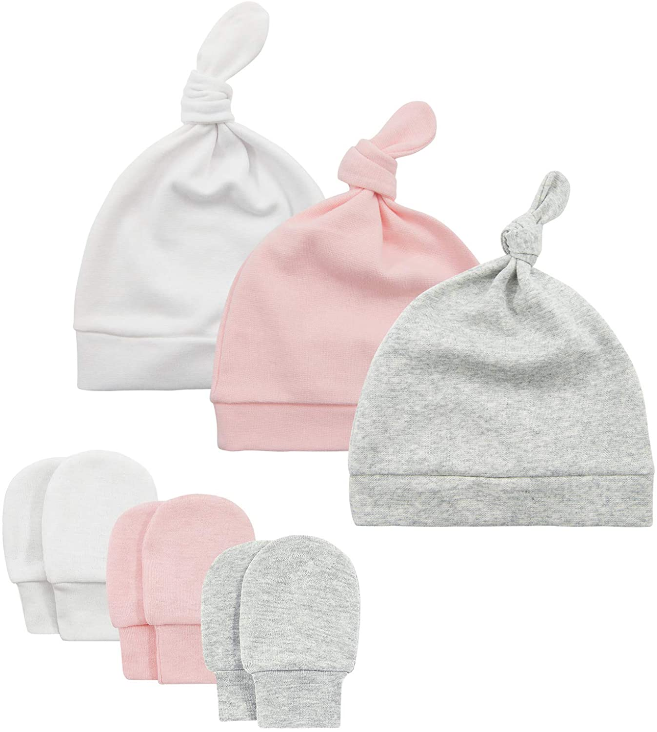 Zando Baby Hats 0-6 Months Newborn Baby Beanie Cute Soft Knotted Fall Winter Caps for Baby Boy Girl