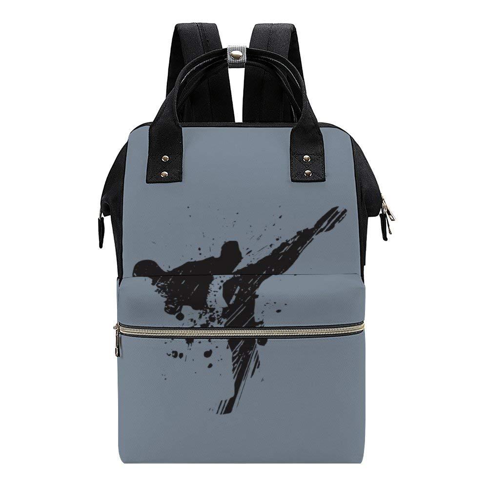 Painting Taekwondo Diaper Bag Backpack Baby Nappy Changing Bags Multifunction Waterproof Travel Back Pack