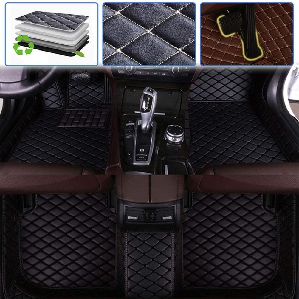 SureKit Custom Car Floor Mats for Honda CRV 2004-2006, 2007-2011, 2012-2016, 2017-2019 Luxury Leather Waterproof Anti-Skid Full Coverage Liner Front & Rear Mat/Set (Black)