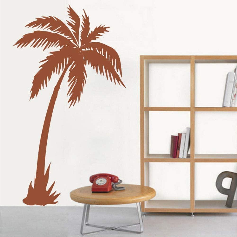 vwsitc Wall Sticker Coconut Tree Wall Decal Removable Vinyl Nursery Living Room Wall Art Mural Home Coconut Tree Removable Decals 57 93Cm