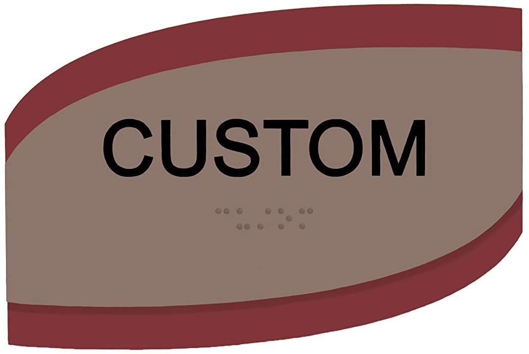 Customizable ADA Compliant Room ID Skew Series Signs 3x6