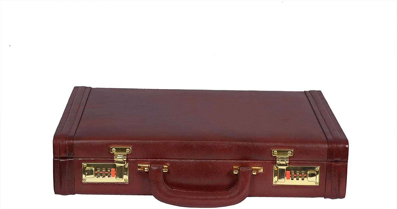 Zint Genuine Leather Men Hard Briefcase Vintage English Style
