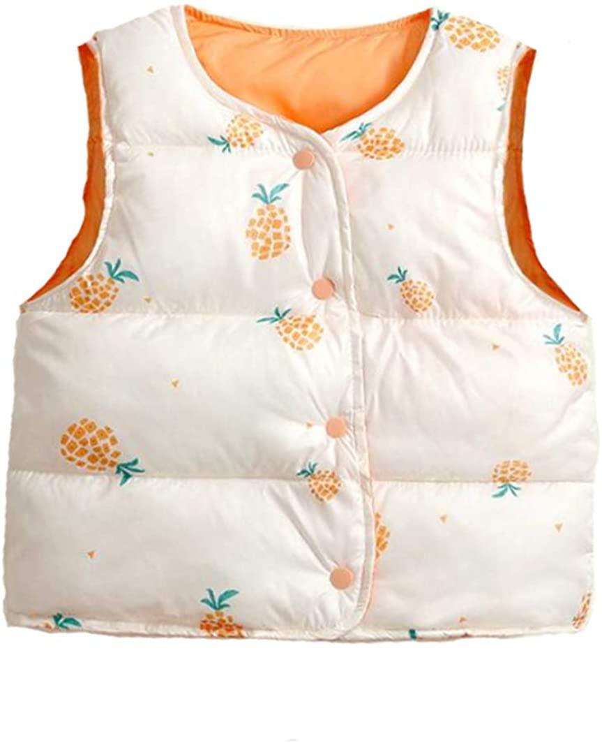 warmstraw Baby Kids Cartoons Puffer Vest Winter Warm Fleece Waistcoat Cute Vests