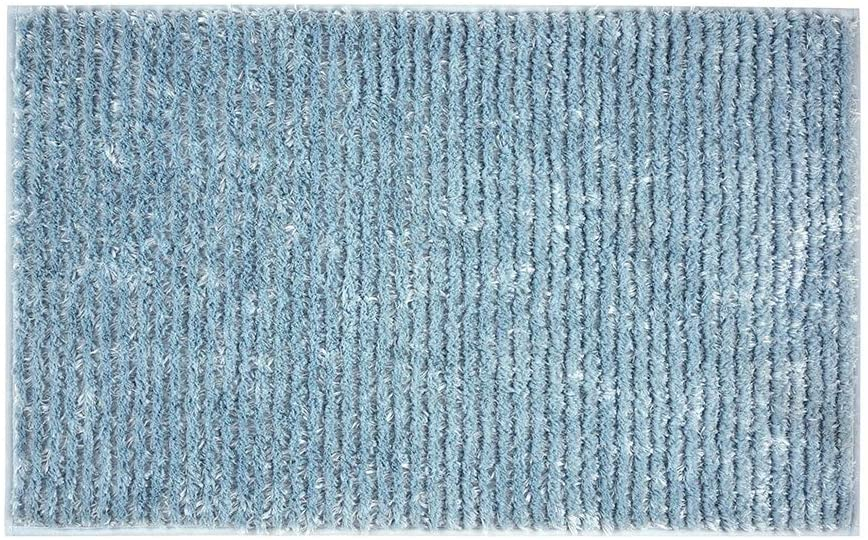 39.5x23.5 Inch Bath Rugs Made of 100% Polyester Extra Soft and Non Slip,Microfiber Shaggy Carpet, Super Absorbent Machine Washable Bath Mats,Blue