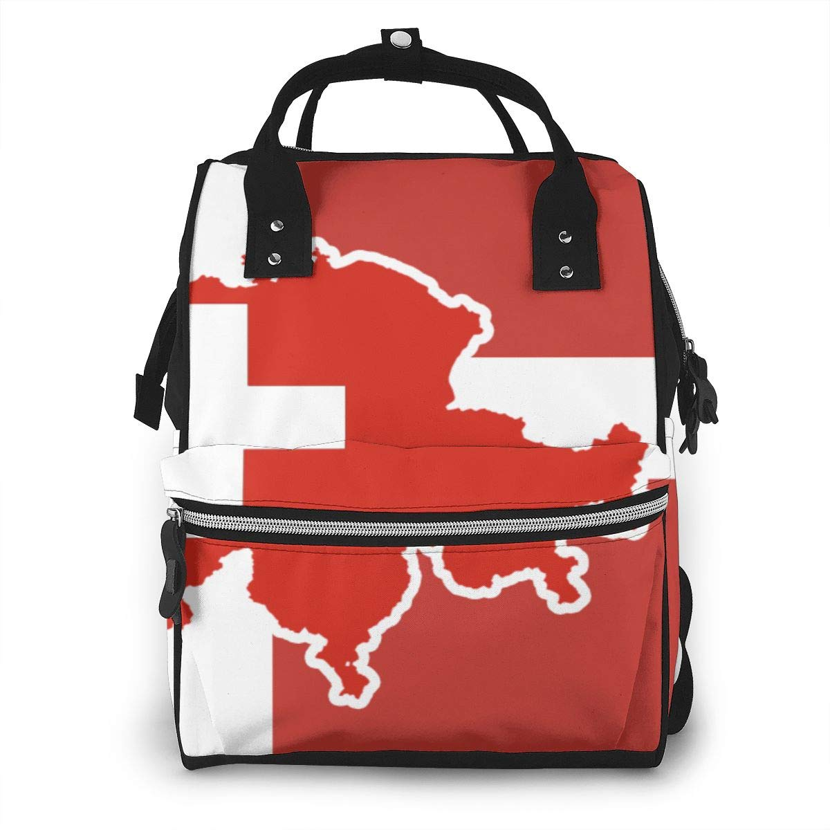 Flag for Switzerland Diaper Bag Backpack Waterproof Multi-Function Baby Changing Bags Maternity Nappy Bags Durable Large Capacity for Mom Dad Travel Baby Care