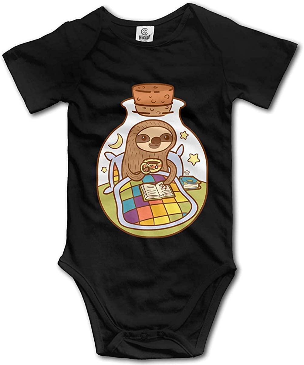 Baby Girls Romper Jumpsuit Sloth in a Bottle Onesies Bodysuit