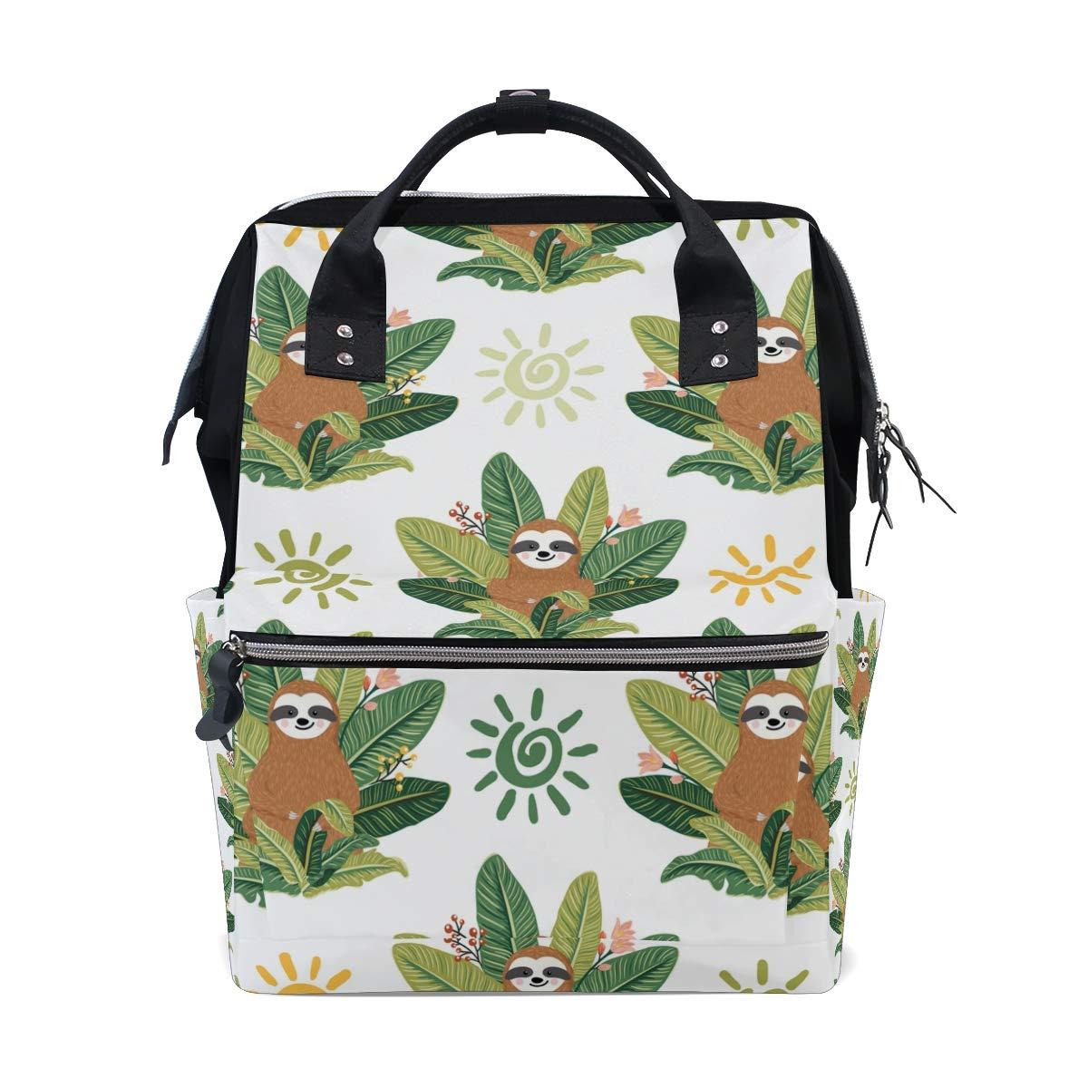 MERRYSUGAR Diaper Bag Backpack Cute Sloth Baby Bag School Backpack Mommy Bag Large Multifunction Travel Bag