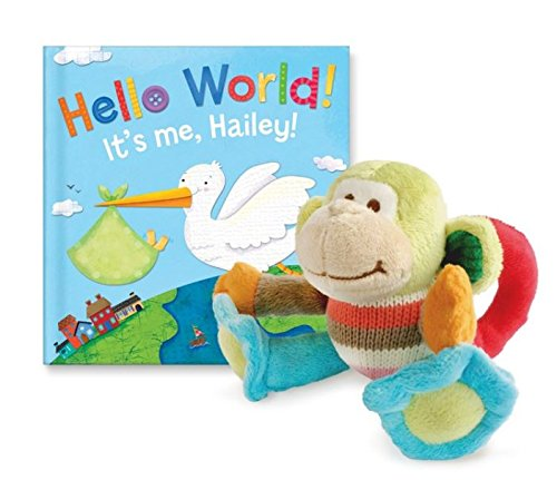 Personalized Birth Announcement Boy Book and Rattle