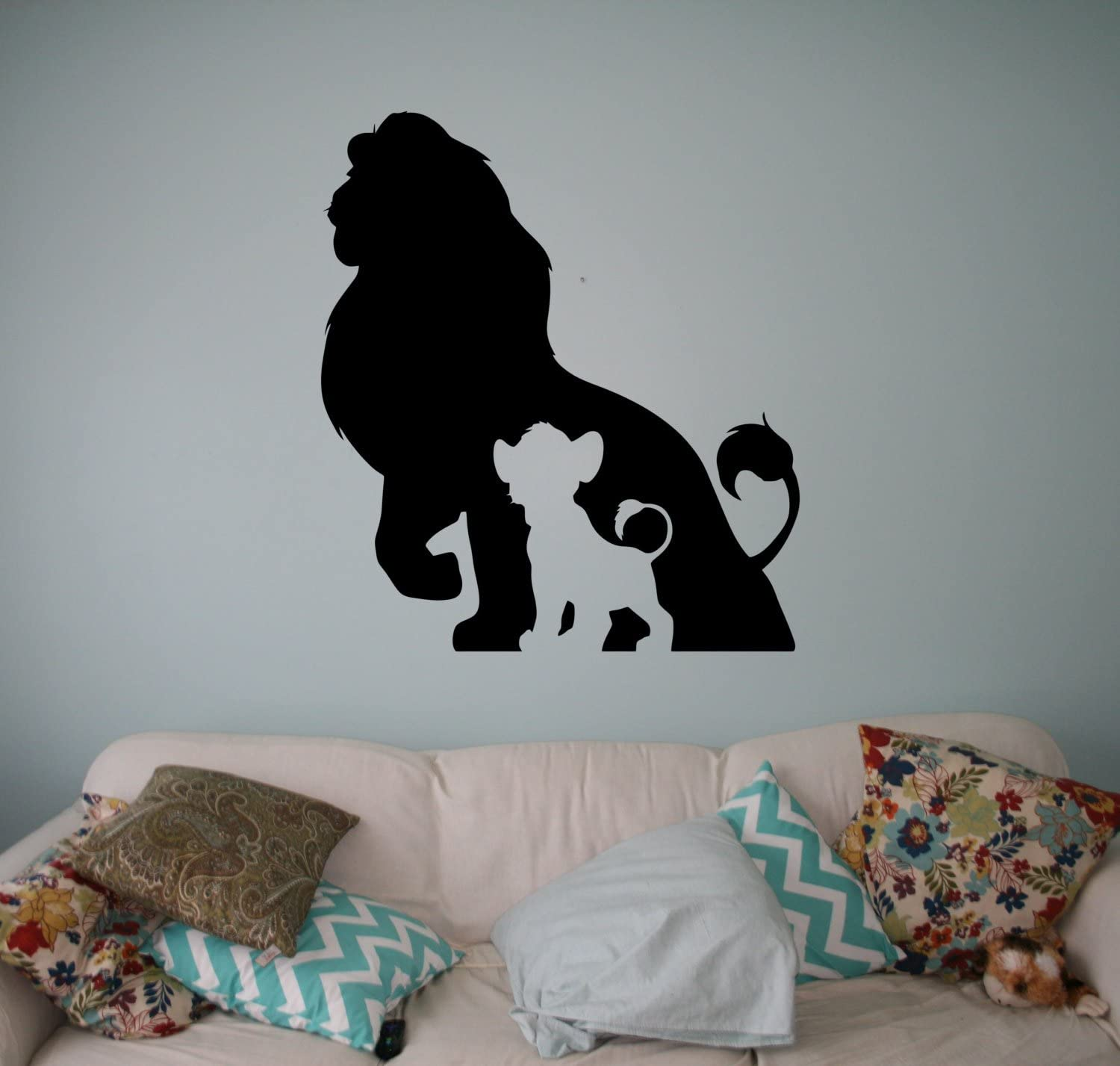 Place The Lion King Wall Vinyl Decal Disney Cartoons Wall Sticker Wall Home Interior - Kids Children Room Decor - Removable Sticker Made in USA - 38x70 Inch