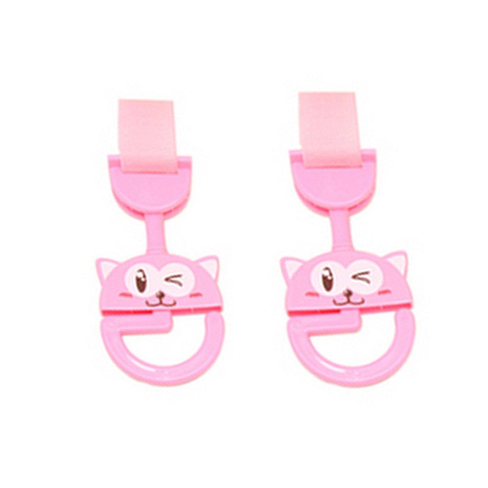 Cute Hot Sale Stroller Hooks Baby Stroller, 2 Pack, Pink Cat (164.5CM)