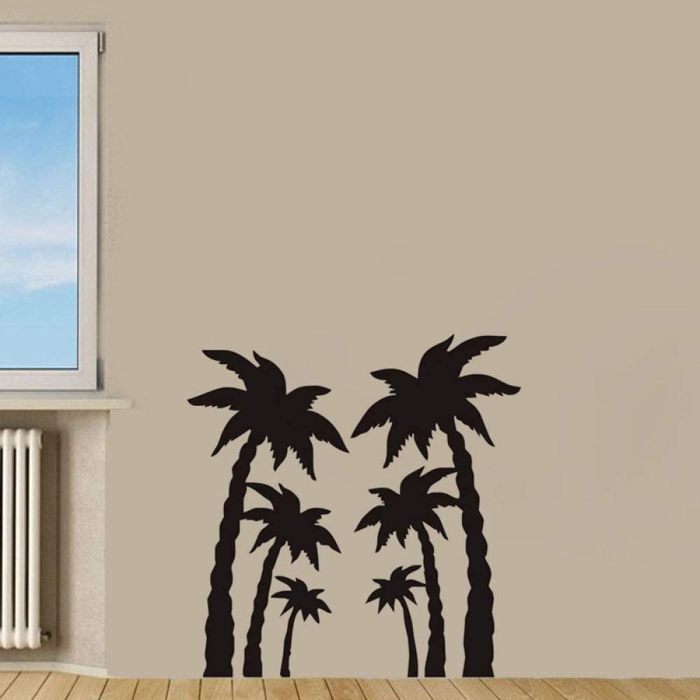 dsajgker Palm Tree Wall Sticker DIY Home Decoration Vinyl Removable Wall Decal Plant Nursery Wall Decoration