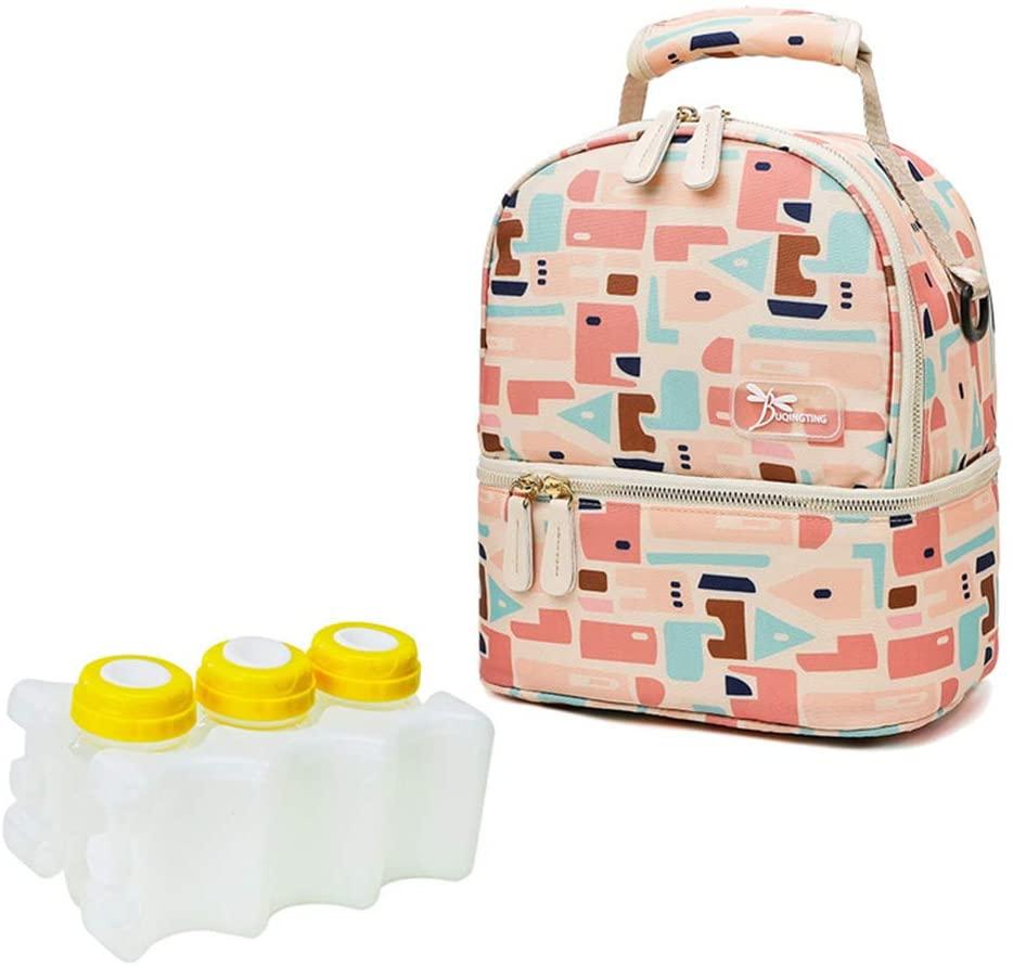 YU-NIYUT Insulated Bottle Mommy Maternity Diaper Handbag Baby Care Shoulder Bag Travel Tote Warming Backpack