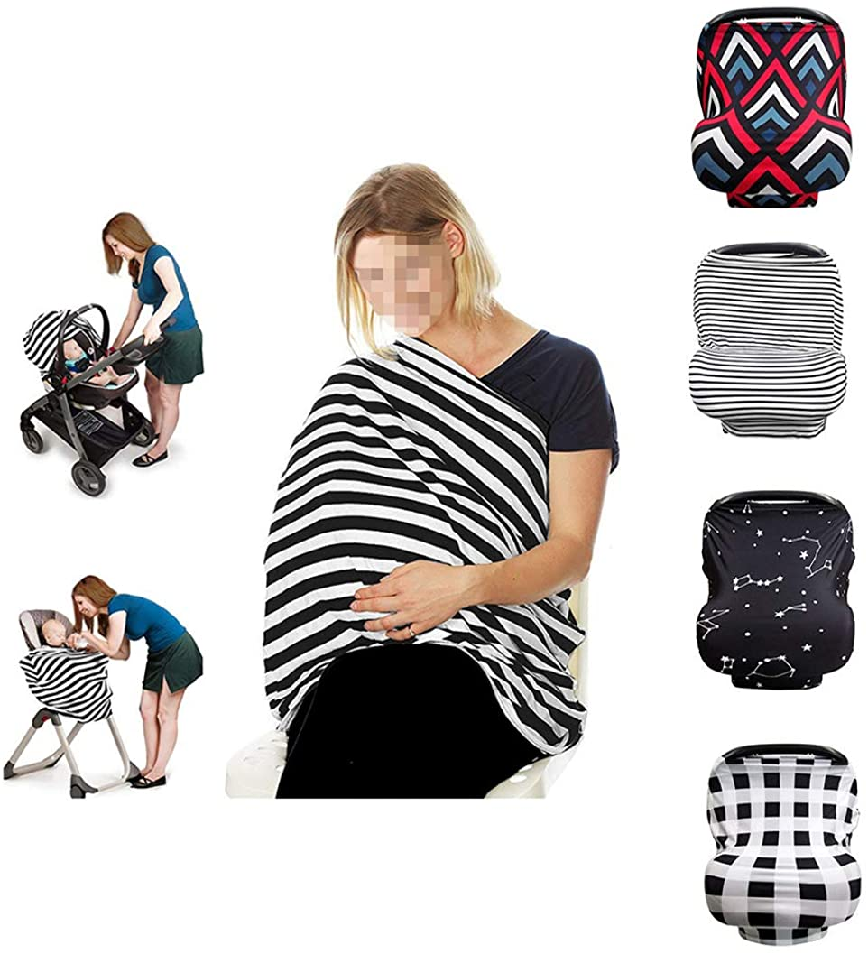 Multifunctional Breastfeeding Cover Scarf Baby Car Seat Canopy Carseat Covers Multi-Use Infinity Stretchy Shawl
