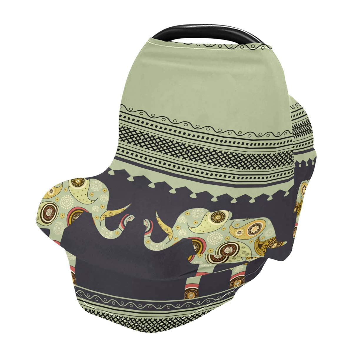 Nursing Cover Cute Elephant Breastfeeding Soft Carseat Canopy Multi Use for Baby Car Seat Covers Canopy Shopping Cart Cover Scarf Light Blanket Stroller Cover