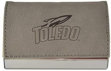 Velour Business Cardholder-University of Toledo-Grey