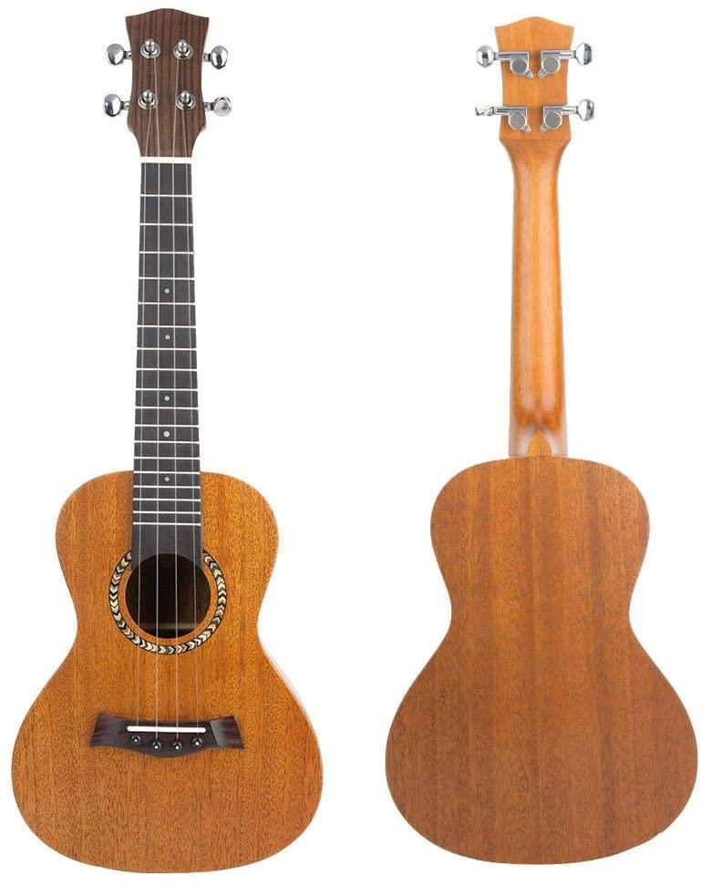 Fafeims 23-Inch Mahogany Ukulele Kid Ukulele Wooden Ukulele Kit Wooden Guitar for Beginners Ukulele Practicing