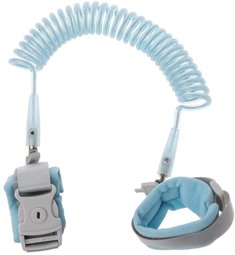 chefensty Anti Lost Wrist Link Add Key Lock Toddler Leash Baby Walker Safety Belt Wristband Walking Strap Rope Adjustable Harness 1.5M 2M 2.5M