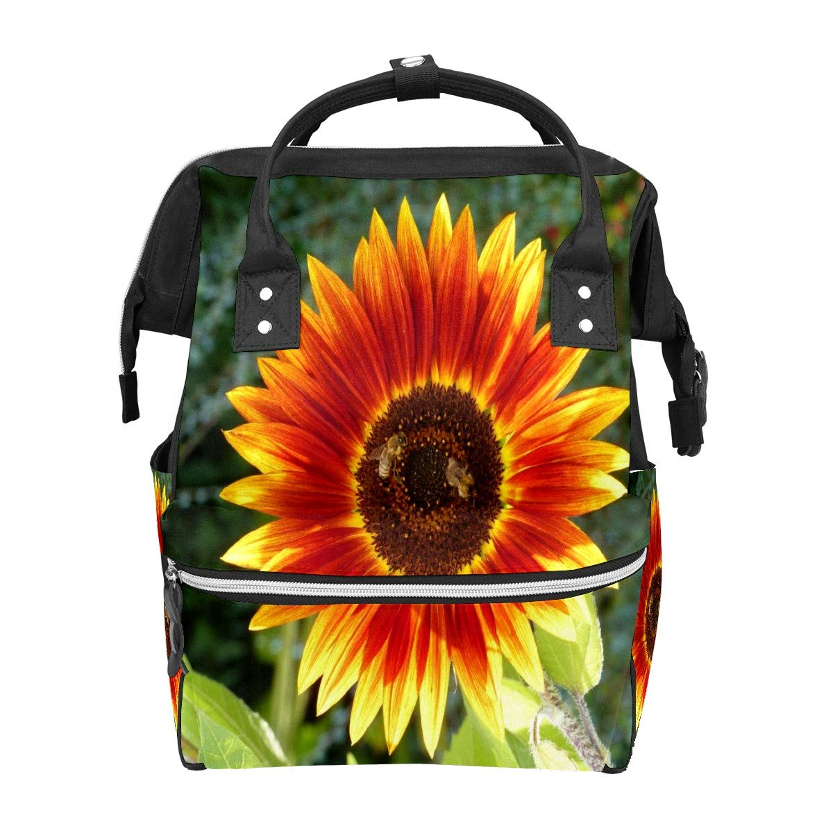 Diaper Bag Backpack Flower Sunflowers Summer Multifunction Travel Back Pack Baby Changing Bags Large Capacity Waterproof Stylish