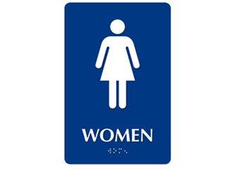 ADA Braille Woman Restroom Symbol ESW-ADA-W