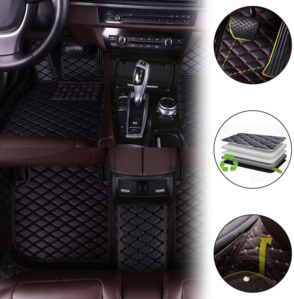 All Weather Custom Fit Floor Mats for Chevrolet Suburban 2003-2009 Waterproof Front & Rear Full Set Leather Car Carpets Liner Black 1 Set
