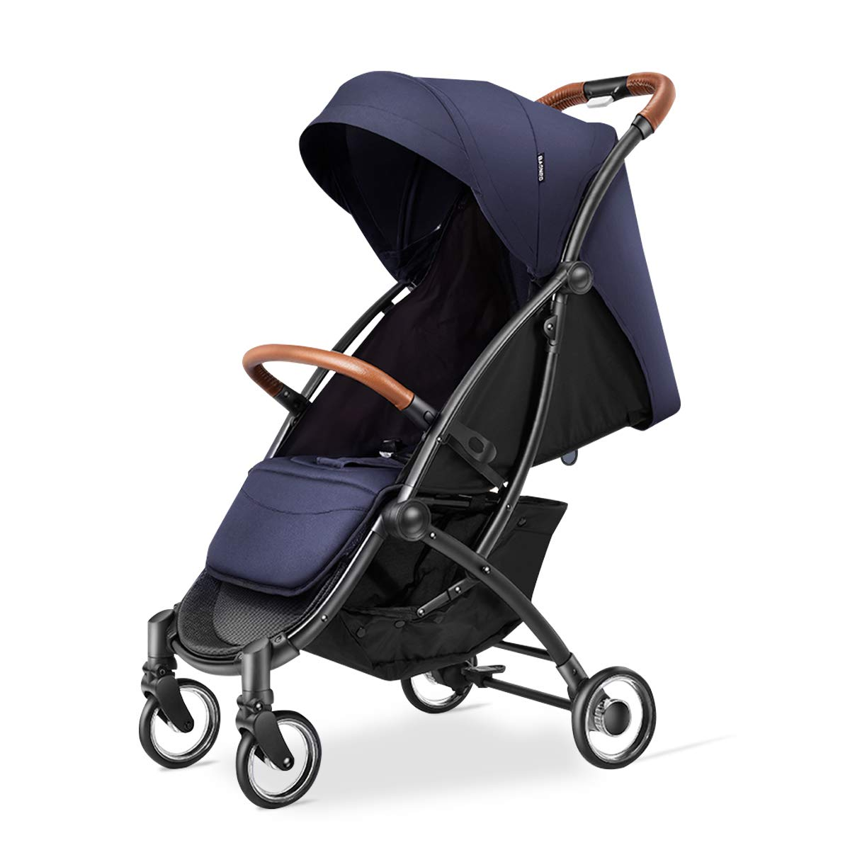 Kerrogee Baby Stroller, Foldable Travel Pram with Oversize Canopy, Adjustable Seat and Shock Absorbing Frame, Suit for Daily Life