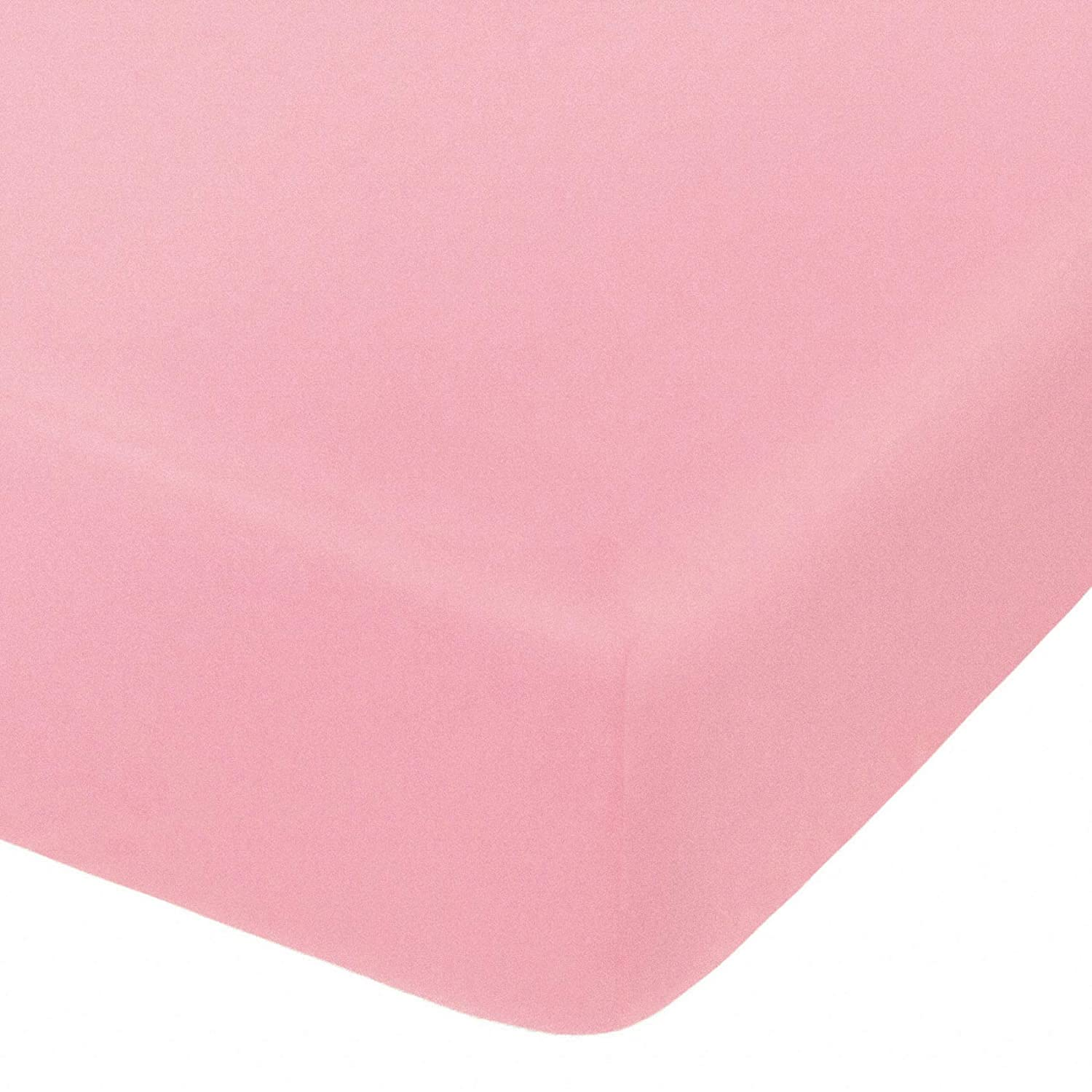 NTBAY Microfiber Fitted Crib Sheet, Cozy and Soft Solid Color Toddler Sheet, 28 x 52 Inches, Pink