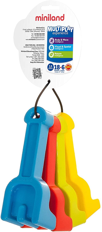 Miniland Educational - Baby Rakes, 5 1/8, Set of 4 Assorted Colors