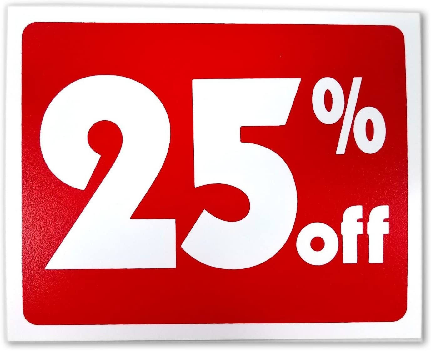 Custom Business Signs (5) Sale 25% Percent Off Business Retail Store Discount Promotion Message Sign Policy Business Signs