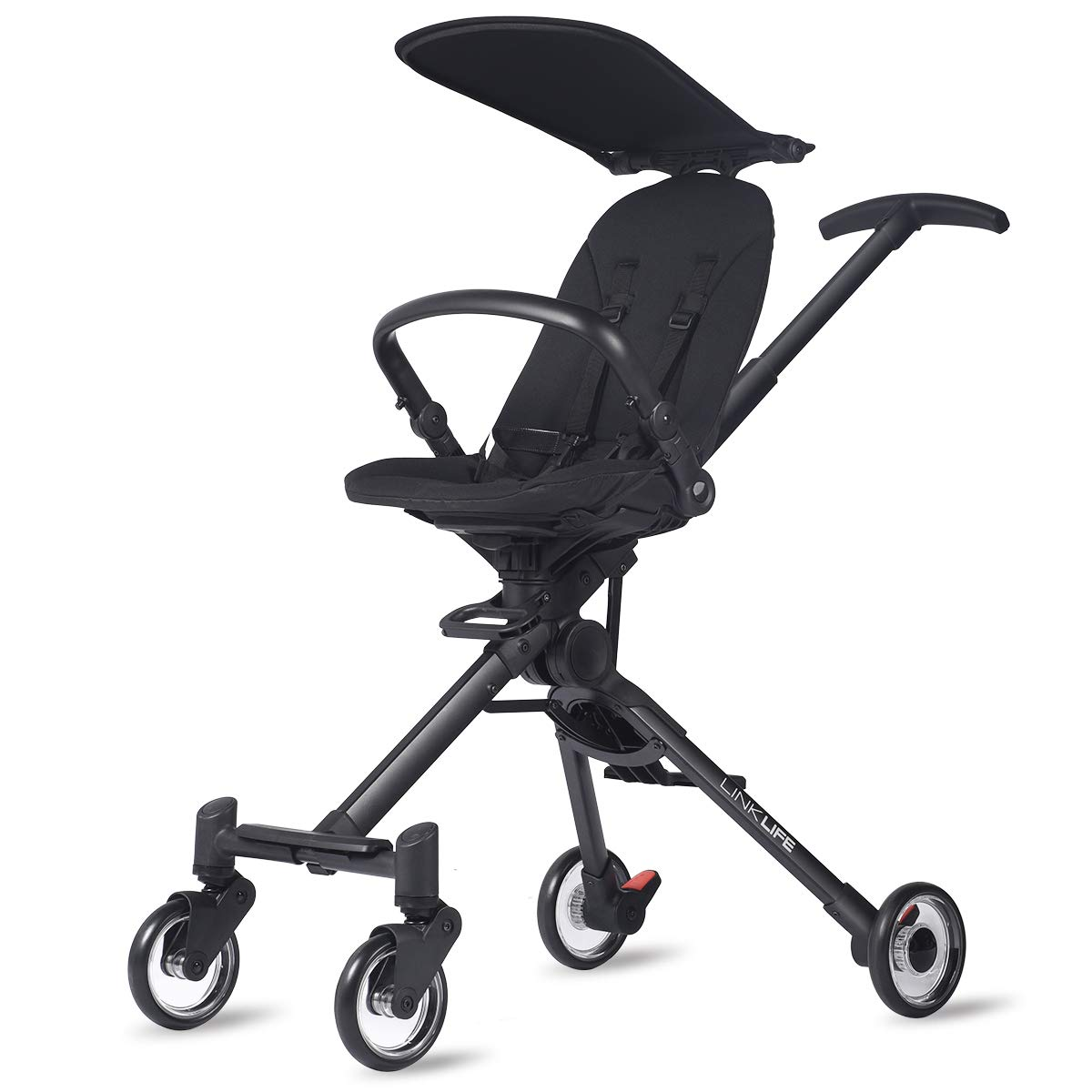 Parker Baby Lightweight Stroller Rider,High Landscape Infant Stroller,Reversible Seat Pram,One Hand,Easy Fold,Adjustable Handle Bar,Suspension Wheels,Safety,Stability,Fashionable