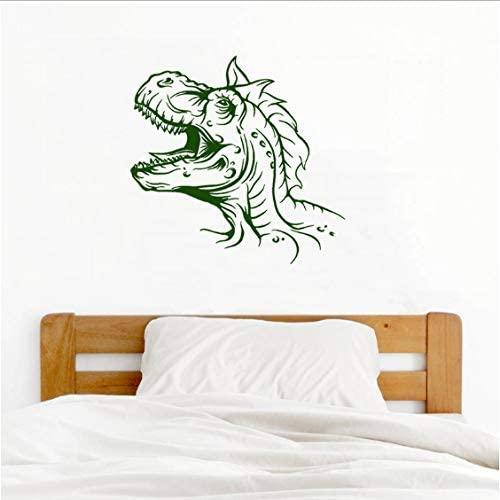 vwsitc Wall Stickers Wall Decal Dinosaur Head Vinyl Wall Sticker for Kid Nursery Bedroom Creative Cartoon Animal Headboard Art Home Decor 59X57Cm