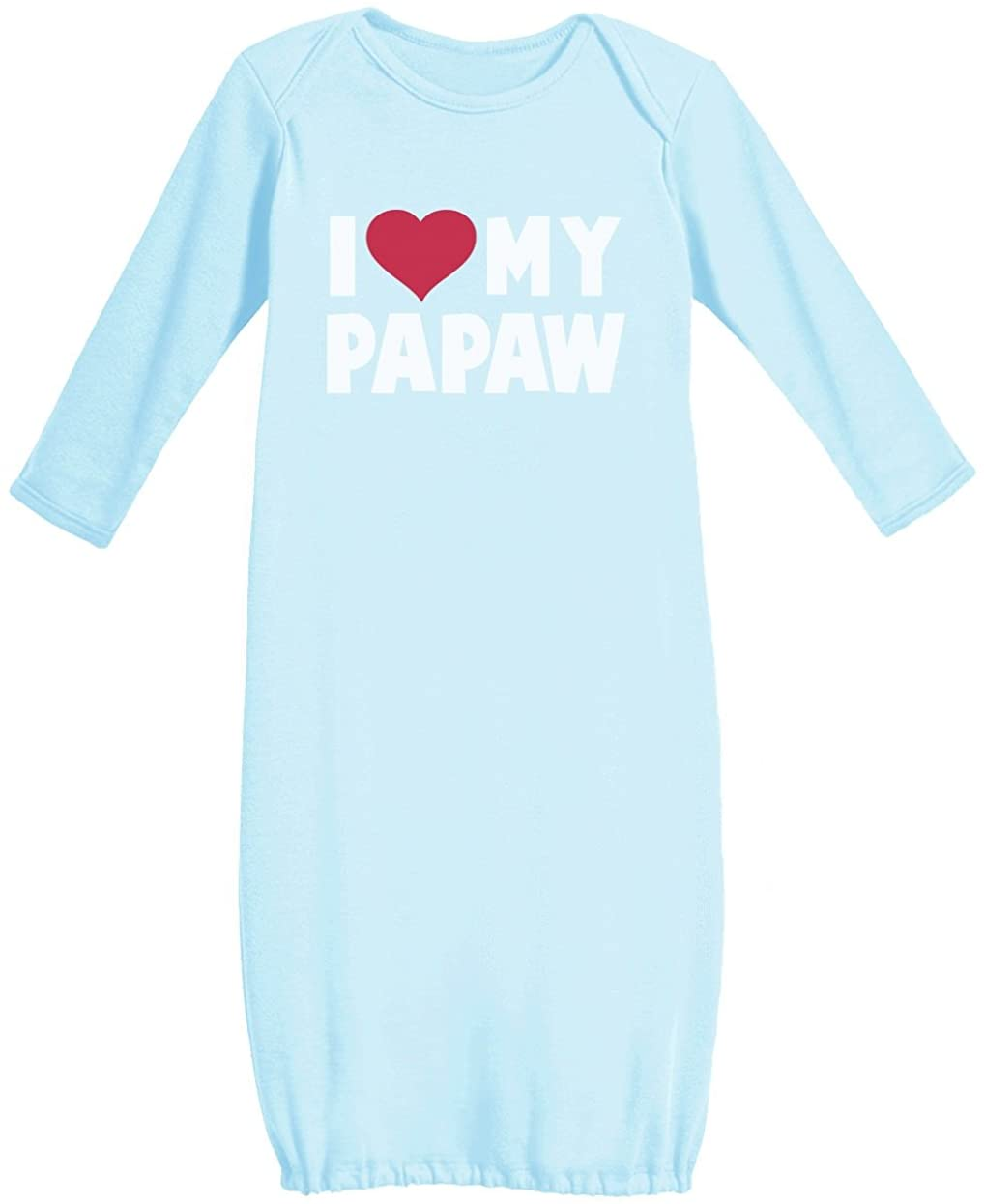 I Love My Papaw for Grandpa Newborn Baby Long Sleeve Gown