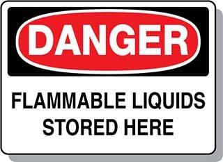 Beaed - Danger Flammable Liquids Stored Here - 100-0021-63M01