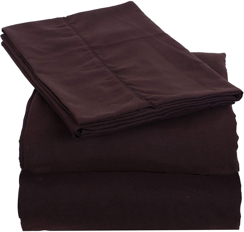 THE ART BOX Microfiber Bedding Set 4 Piece – 1 Microfiber Bed Sheet with 1 Flat Sheet (66