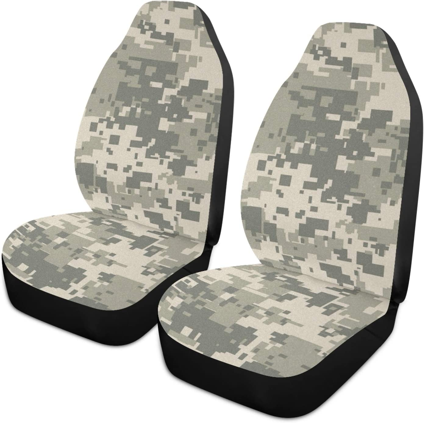 Moudou Camouflage Car Seat Cover Breathable Front Car Seat Cover Vehicle Seat Protector Fit Most Cars, SUV, Truck and Van, 1pc
