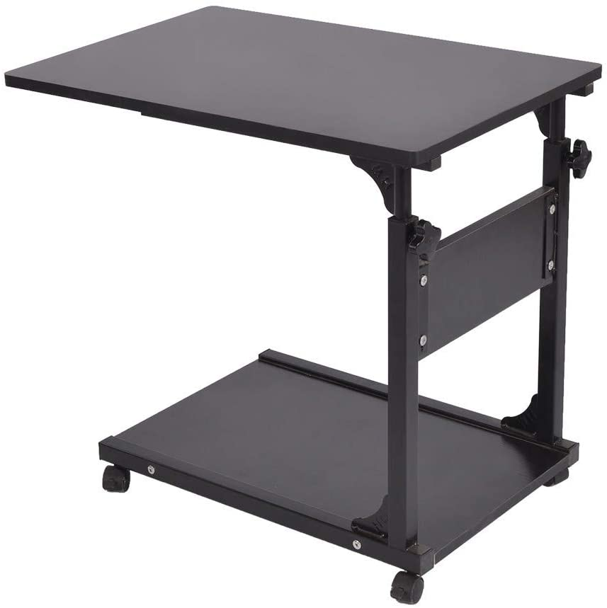 arrowsy Side Table Adjustable Laptop Stand Portable Cart Tray Side Table Studying Desk