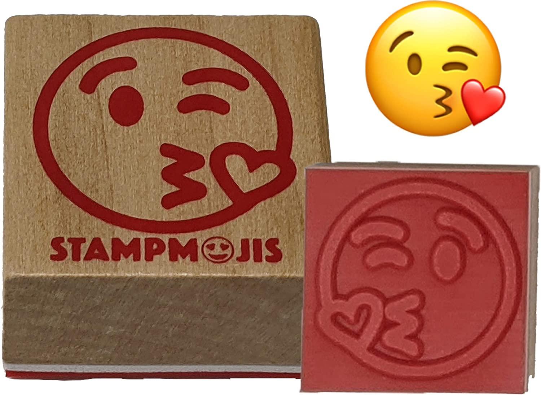 Stampmojis Individual Emoji Stamp - KISS Stamp - Fun Teacher Stamps, Stamps for Kids, Cute Emoji Gifts