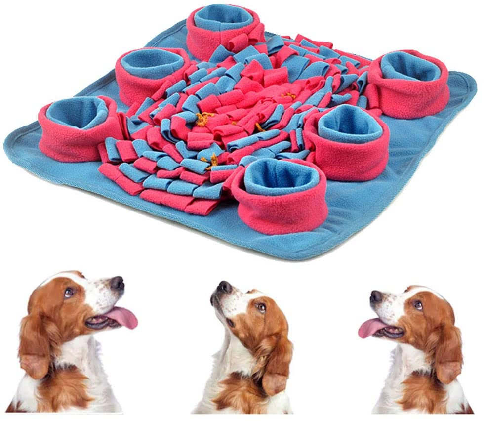 Dog Slow Bowl Feeding Mats for Dog Cat Snuffle Mat Interactive Game Puzzle Feeder Blanket Anti Slip Training Pad Release Stress, Smell Training Foraging Durable Pet Activity Treat Mat Machine Washable