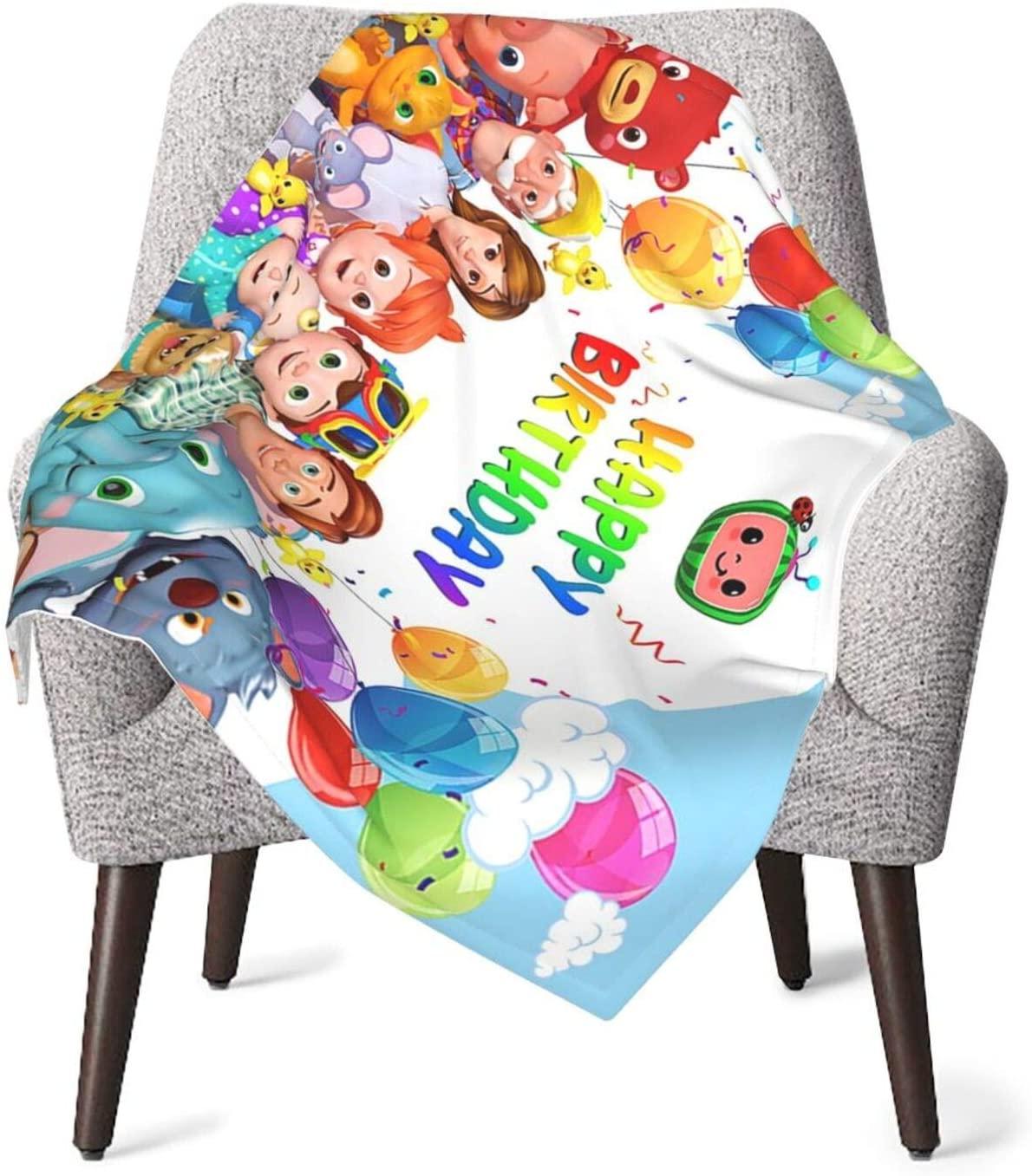 Ktdbthut Cocomelon Soft Blanket Baby Shower Soft Baby Blanket for Baby Boy Or Girl Black