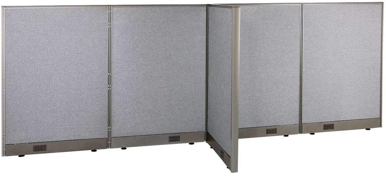 GOF Freestanding T-Shaped Office Partition, Large Fabric Room Divider Panel 30d x 120w x 48h (30d x 120w x 48h)