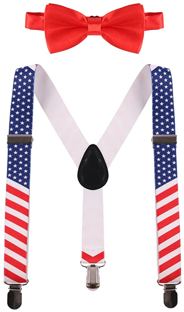 Baby Boy Suspenders Bowtie Set Cake Smash Adjustable Braces Y Back with Clips Casual Formal