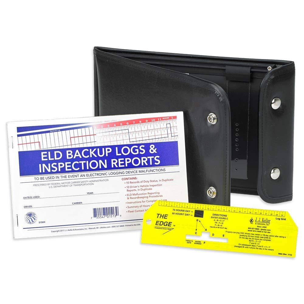 ELD Backup Log Book DVIR Kit - Includes ELD Backup Log Book,