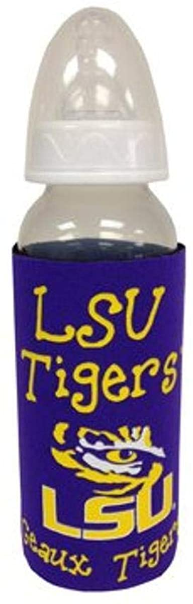 Game Day Outfitters NCAA LSU Tigers Infant Baby Bottle with Koozie, One Size/9 oz, Multicolor