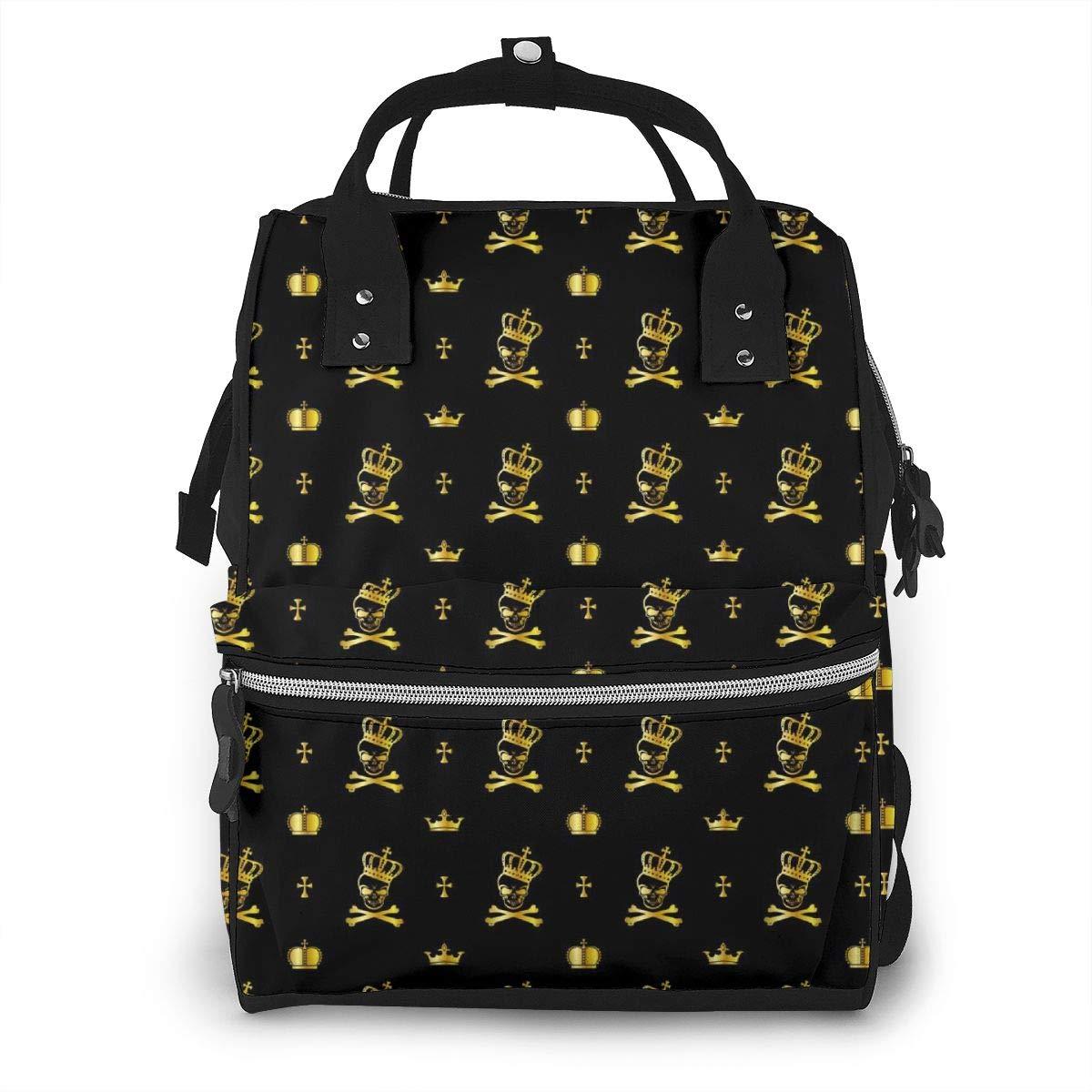 Crown Bone Large Capacity Diaper Nappy Travel Nursing Bag Mummy Mom Backpack Laptop Multi-Function for Baby Care Women Family