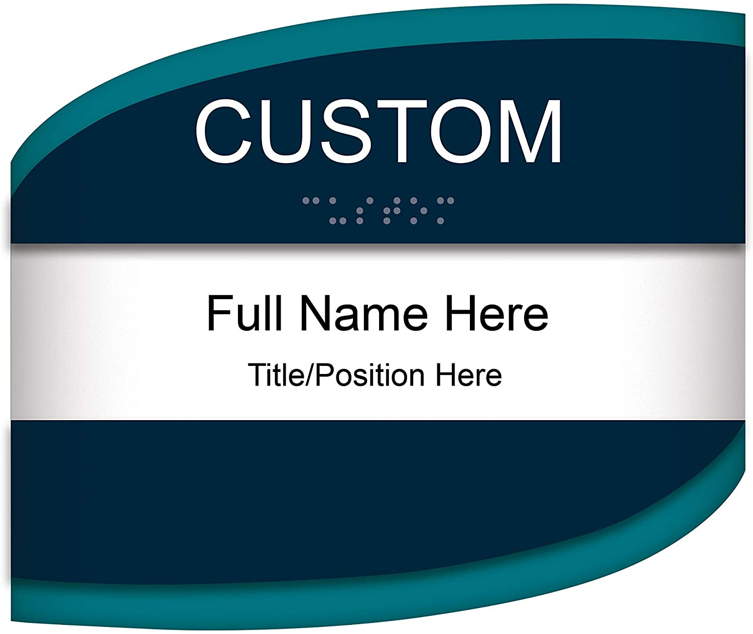 Customizable ADA Compliant Room ID with Changeable Paper Insert Sign 5.5x8