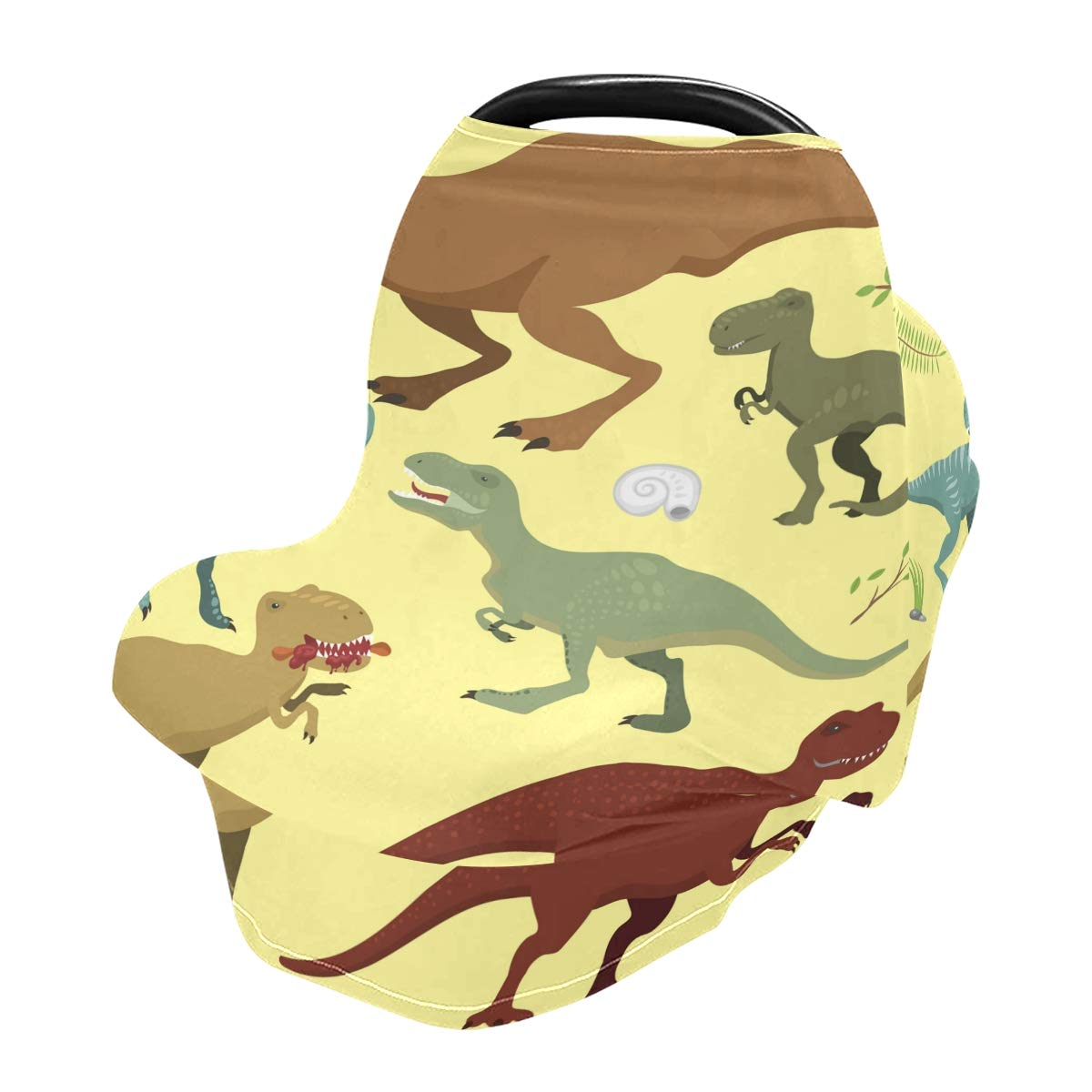 Nursing Cover Breastfeeding Scarf Dinosaur - Baby Car Seat Covers, Infant Stroller Cover, Carseat Canopy for Girls and Boys(801c)
