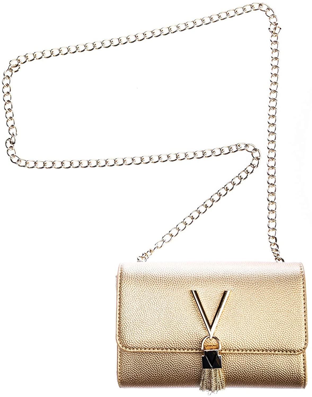 Valentino by Mario Valentino Divina S Cross Body Ladies Handbag in Gold One Size