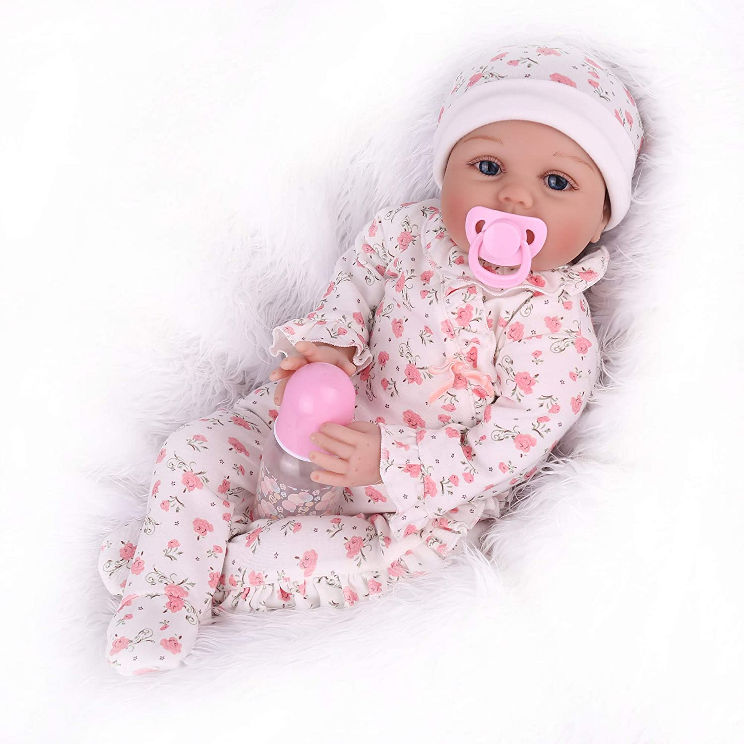 CHAREX 22 Inch Reborn Baby Dolls Lifelike Weighted Baby Reborn Dolls Girl Handmade Adorable Real Baby Dolls for Age 3+